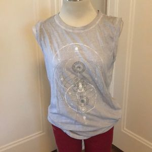 Project Social T gray sleeveless t-shirt size m